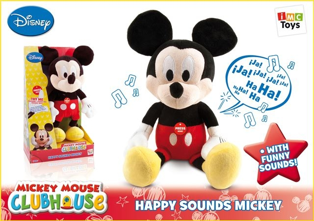 Pliš Happy Sounds Mickey - Plišane igračke