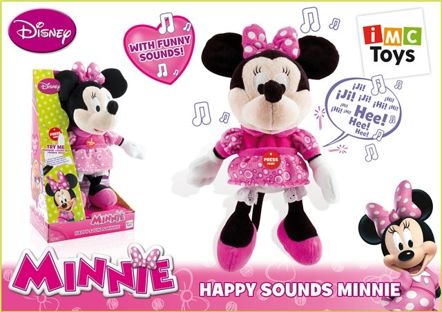 Pliš Happy Sounds Minnie - Plišane igračke